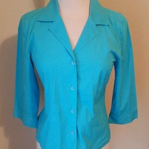 Island Republic Turquoise Button Up Blouse
